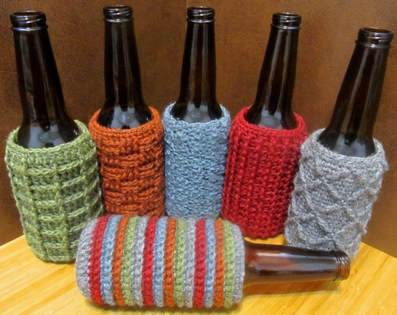 Crochet Patterns For Koozies : Beer Bottle Cozy/Koozie-6 Pack Crochet Pattern shopswell