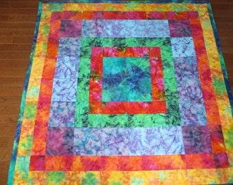 Easy Quilt Pattern batiks or solid colors, Pattern for Beginners Digital Download PDF Pattern, Instant Download Pattern