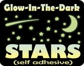 Glow In The Dark Stars | Removable glow decals | Ceiling Stars | peel and stick Glow Stars | 10 HOUR GLOW!!