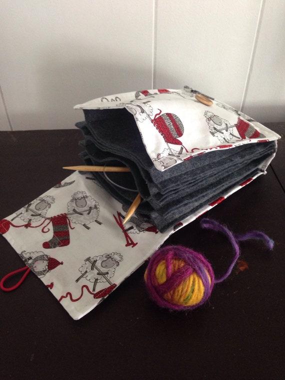 Circular Knitting Needle Storage Organizers : Circular knitting needle organizer case sheep