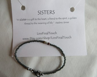 Sisters Bracelet - Any Size, Bracelet, Sisters, Beaded, Two