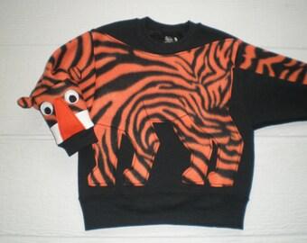 Kids Tiger Sweatshirt, Tiger Shirt, go Tigers, Cat, tiger stripe, jumper, back to school, childrens shirt