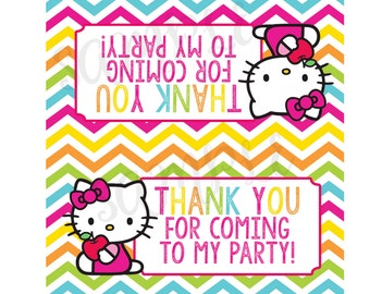 Hello Kitty Inspired Goody Bag Toppers-INSTANT DOWNLOAD!