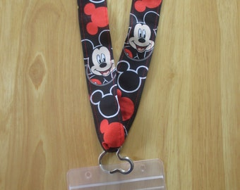 Disney Mickey Mouse Lanyard KTTW Card Holder DCL Disney Cruise Mickey heads