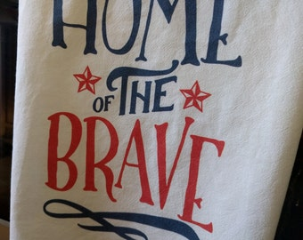 4th of July flour sack towel - Free Shipping!