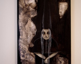 The Witch Mix media original painting