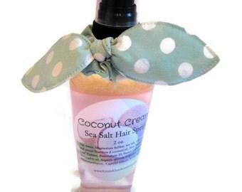 Sea Salt Hair Spray With Hair Tie, Coconut cream scented. beach hair, beach waves, tousled look, summer hair, summer, beach