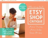 Shop Critique | Etsy Shop Critique | Shop Review | Personalized Shop Critique Video | Etsy Seller Help | New Shop Set Up | Etsy SEO Help