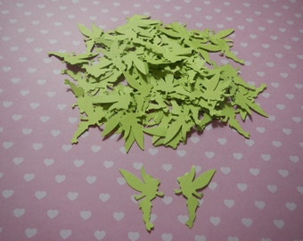 75 Tinkerbell Inspired Color Hand Punched 1 inch Paper Punches Embellishment
