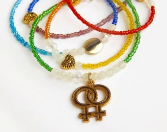 Double Venus PRIDE  Waistbeads, Belly Chain, Belly Chain, Belly Beads