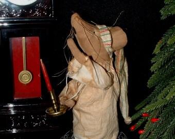 Primitive Christmas Mouse Doll