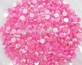 100pcs - 6mm Rose Pink AB Jelly Flatback Rhinestones Deco AJ30006