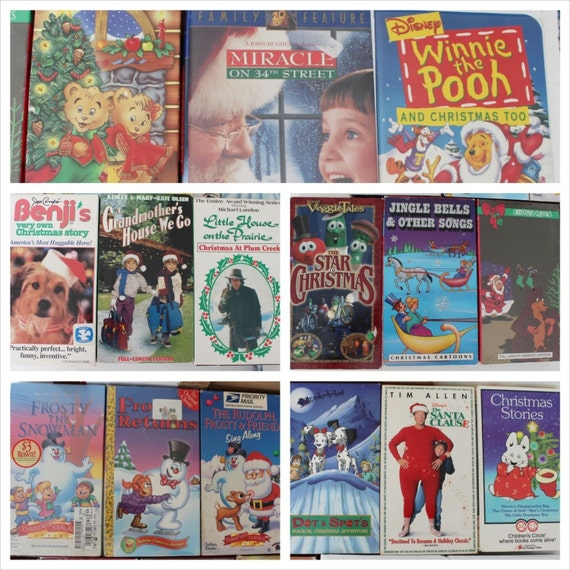 Vintage Vhs Christmas Movies Lot Of 15 Holiday Videos Old