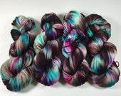 Hand Dyed Yarn, Ultra Soft Merino Superwash, Blast Off, Fingering Yarn, Superwash Merino,Yarn,  soft merino