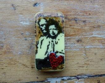 Vintage Love Domino Fridge Magnet