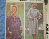1970's McCall's Carefree Sewing Pattern 6254 Misses' One Size Smock Dress/Top