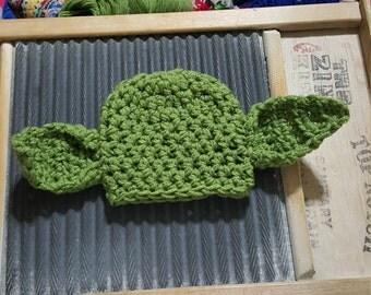 Yoda hat star wars newborn child adult baby crochet beanie jedi