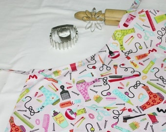 Hair Stylist Adult Apron with matching pocket