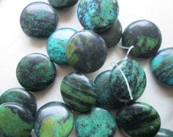 Turquoise Coin Beads 25mm 10 Beads
