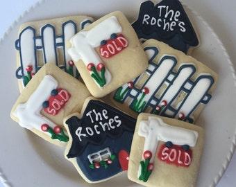 House Warming Sugar Cookies, house warming gift, housewarming gift, prrsonalized housewarming gift, new home housewarming gift, cookies