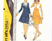 Misses Vintage Dresses Two Styles High Waisted Size 20 Chest 42 Uncut Pattern FF