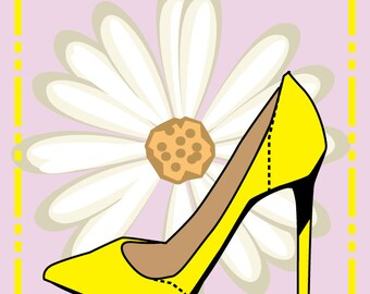 "Vector art poster ""Fashion Shoe"""