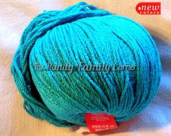Viscose Stretch - elastic (resilient) yarn. Spandex, Stretchy yarn, light blue color (584). Lycra yarn.