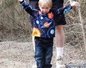 Solar System Batik and Tie dyed Long Sleeve  Youth Tee Shirt