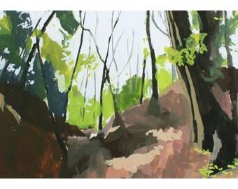 """5x7"""" print - landscape art - """"Woods 1"""""""