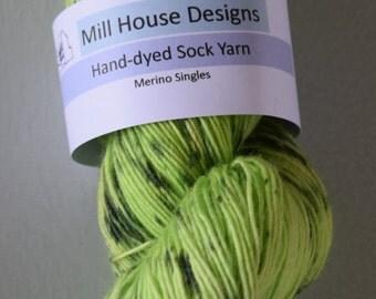 Hand-dyed Merino Singles sockweight yarn