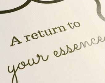 A return to your essence - e-course