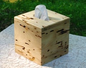 """The BlackWater TBC - Wormy Hickory Tissue Box Cover - """"Cube Style"""""""