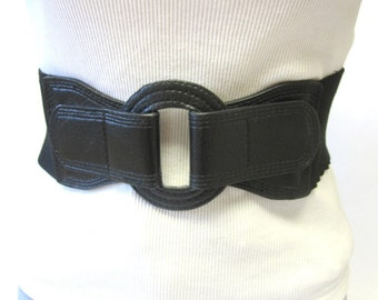 Belt Black Wide Stretch Waist Cinch Corset