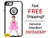 OTTERBOX DEFENDER iPhone 6 5 5S 5C 4/4S iPod Touch 5G Case Custom 1 1- Photo Image Photograph - Monogram Personalized ID
