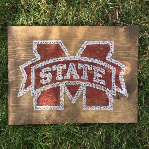 Made to order Mississippi State String Art