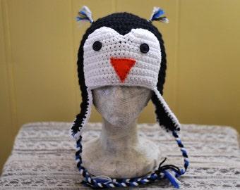Patrick Penguin Crochet Hat