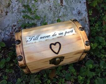 Proposal Ring Bearer Custom Ring Box Rustic Woodland Farmhouse