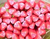 Polymer clay strawberry cane fruit 1pcs for miniature foods desserts sundae topping decoden and nail art supplies 5mm - 6mm