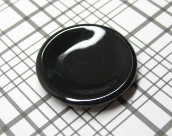 25mm dollhouse miniature dish black gloss plate 1:12 scale one inch Halloween DIY food jewelry base cabochons