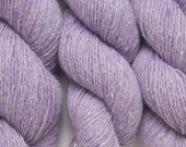 Lilac Fleck Cashmere Silk Lace Weight Recycled Yarn, 1087 Yards Available in Four skeins of Different Lengths,