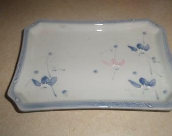 vintage vanity dresser trinket tray hand painted porcelain