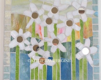 Flowers mosaic mirrors