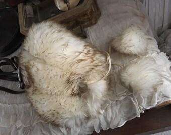 Vintage Natural Lamb Wool Fur Italian Winter Hat
