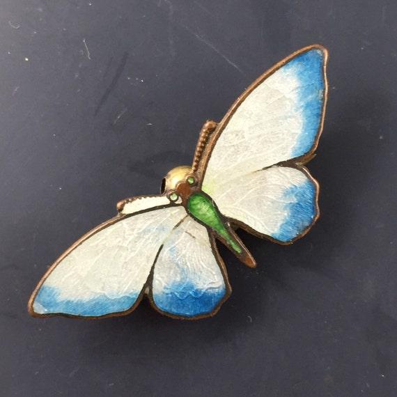 Antique Enamel Butterfly Brooch . Victorian Brooch. Pin No.00995 hs