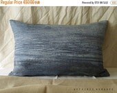 "ON SALE Sea inspired Linen throw Pillowcase. 14""x 22"" Blue.. Brightness of blue  /  FRAGMENTS. Coastal home decor"