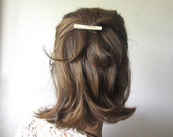 Elk Horn Hair Barrette -TRINITY- Minimal Antler Clip