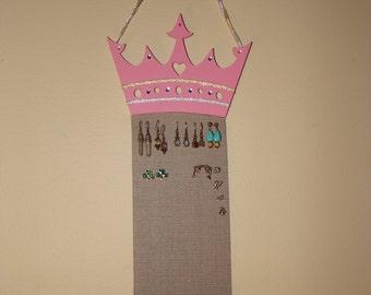 Jewelry Organizer Hanging Jewelry Holder Display 'Princess in Pink'