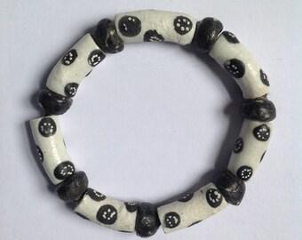 African Polka Dot Bracelet