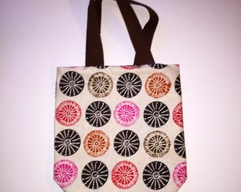 Reversible Pink and Brown Tote