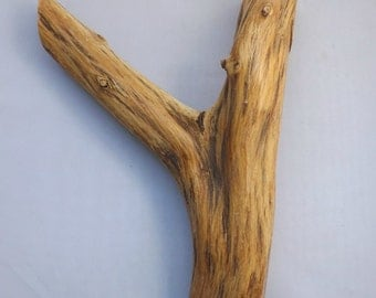 Wood Peg Rustic Mesquite Wood Hat Rack Coat Hanger forked Branch